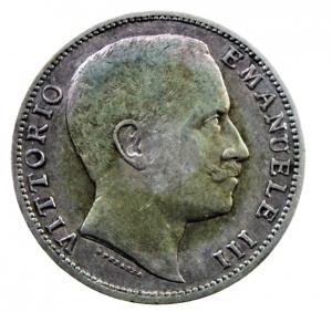 reverse: Casa Savoia. Vittorio Emanuele III. 1900-1943. 2 lire 1907. AG. Pag. 731. Buon BB.