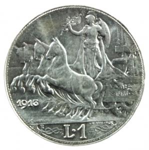 obverse: Casa Savoia. Vittorio Emanuele III. 1900-1943. Lira 1913. AG. Pag. 772. qFDC.