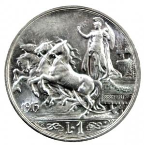 obverse: Casa Savoia. Vittorio Emanuele III. 1900-1946. Lira 1915. AG. Pag. 773. Mont. 200. FDC.