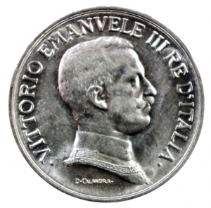 reverse: Casa Savoia. Vittorio Emanuele III. 1900-1946. Lira 1915. AG. Pag. 773. Mont. 200. FDC.