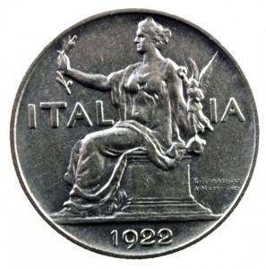 obverse: Casa Savoia. Vittorio Emanuele III. 1900-1943. Lira 1922. NI. Pag. 776. qSPL.