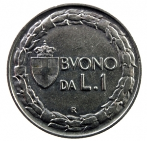 reverse: Casa Savoia. Vittorio Emanuele III. 1900-1943. Lira 1922. NI. Pag. 776. qSPL.