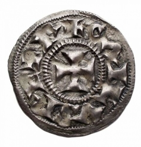 obverse: Monete del Mondo - Francia.Charles the Simple (879-929).AR Denier de Melle.Depeyrot 627. MEC 1, 960-1.AR.g. 1.46mm. 22.2. qSPL-SPL. Patina