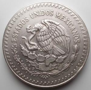 reverse: Monete del Mondo - Messico. Mexico libertad onza plata pura 1 oz 1985 silver argento oncia