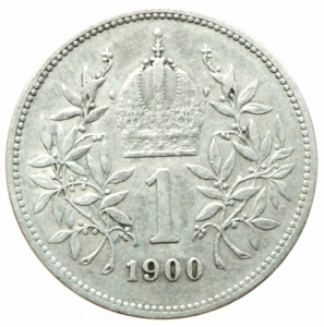 reverse: Monete Estere.Austria.Francesco Giuseppe.1 Corona 1900.Ag.Peso4,80 gr.BB