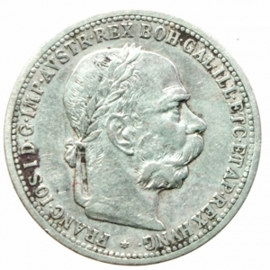 obverse: Monete Estere.Austria.Francesco Giuseppe.1 Corona 1898.Ag.Peso4,80 gr.BB+
