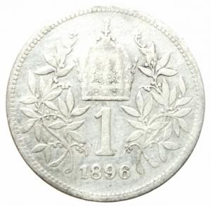reverse: Monete Estere.Austria.Francesco Giuseppe.1 Corona 1896.Ag.Peso4,80 gr.MB+