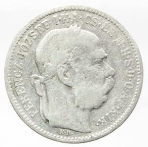 obverse: Monete Estere.Austria.Francesco Giuseppe.1 Corona 1895.Ag.Peso4,80 gr.MB+