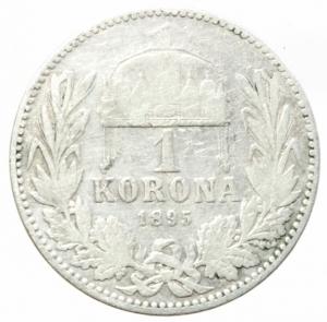 reverse: Monete Estere.Austria.Francesco Giuseppe.1 Corona 1895.Ag.Peso4,80 gr.MB+