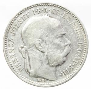 obverse: Monete Estere.Austria.Francesco Giuseppe.1 Corona 1894.Ag.Peso4,80 gr.BB