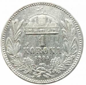 reverse: Monete Estere.Austria.Francesco Giuseppe.1 Corona 1894.Ag.Peso4,80 gr.BB