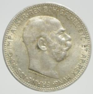 reverse: Monete Estere.Austria.Francesco Giuseppe.1 Corona 1915.Ag.Peso4,80 gr.BB+