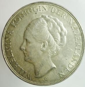 reverse: Monete Straniere. Olanda. Guglielmina. 2 1\2 Gulden 1939. Ag. SPL.