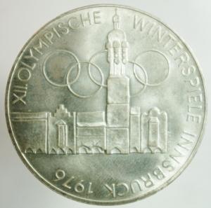 obverse: Monete Estere. Austria. Repubblica. 100 Shilling 1976. Ag. Peso gr. 24,25. SPL+.