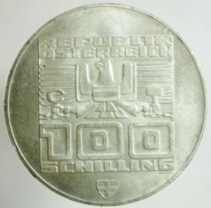 reverse: Monete Estere. Austria. Repubblica. 100 Shilling 1976. Ag. Peso gr. 24,25. SPL+.