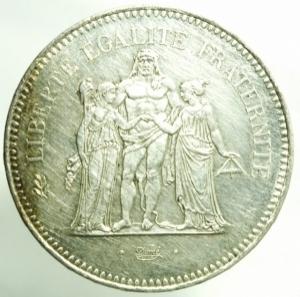 reverse: Monete Straniere. Francia. 1979. 50 Franchi. AG. qFDC. R.