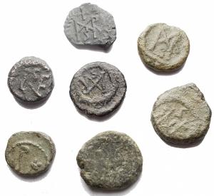 obverse: Lotti - Mondo Romano. Insieme di 7 Bronzetti con monogramma