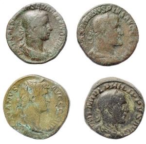 obverse: Lotti - Impero Romano.Lotto di 4 Sesterzi in Ae