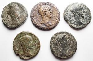 obverse: Lotti - Mondo Romano. Insieme di 5 Medi Bronzi.