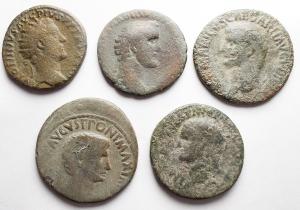 obverse: Lotti - Mondo Romano. Insieme di 5 Medi Bronzi incluso Germanico.