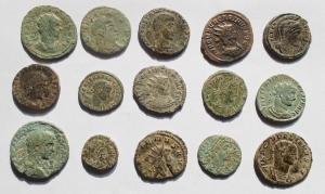 obverse: Lotti - Mondo Romano. Interessante insieme di 15 Bronzetti