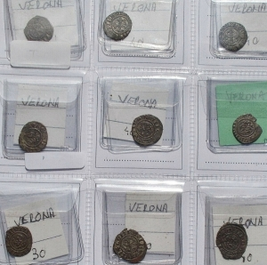 obverse: Lotti - Verona. Interessante insieme di 9 denari