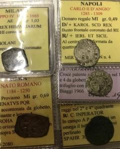 obverse: Lotti.Zecche Italiane.Lotto di 5 monete regionali,presenti Milano,Roma,NapoliRavenna,Brindisi,mediamente qBB.___