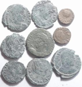 obverse: Lotti.Impero Romano.Lotto di 9 monete da Giuliano II a Teodosio II,mediamente BB.