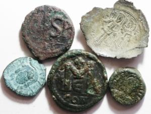 obverse: Lotti.Bizantini.Lotto di 5 monete, mediamente MB\BB
