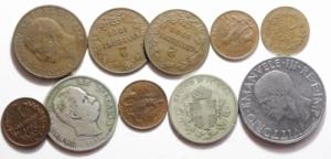 obverse: Lotti.Casa Savoia.Lotto di 10 monete, mediamente BB\BB+