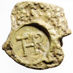obverse: Tessere Piombo.Tessera con monogramma THR.Peso 24,80 gr.SPL