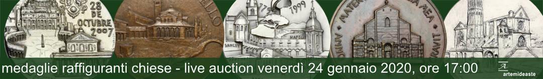 Banner Artemide - Una raccolta di medaglie raffiguranti chiese italiane