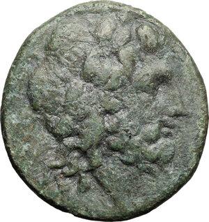 obverse: Eastern Italy, Larinum. AE Quadrunx, c. 210-175 BC