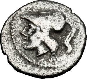 obverse: Northern Apulia, Arpi. AR Obol, 215-212 BC