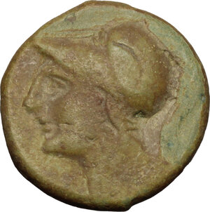 obverse: Anonymous. AE Half Unit, Neapolis mint(?), after 276 BC