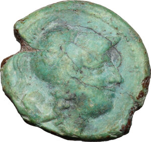 obverse: AE Half Unit, Neapolis mint, after 276 BC