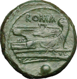 reverse: Semilibral series.. AE Uncia, 217-215 BC