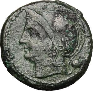 obverse: Anonymous semilibral series.. AE Uncia, 217-215 BC