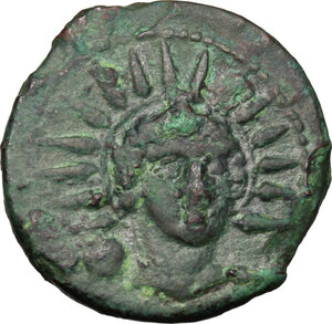 obverse: Anonymous. AE Uncia, 217-215 BC