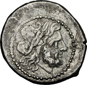 obverse: Anonymous. AR Victoriatus, from 211 BC