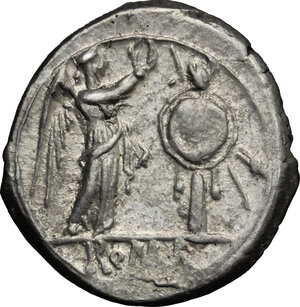 reverse: Anonymous. AR Victoriatus, after 211 BC