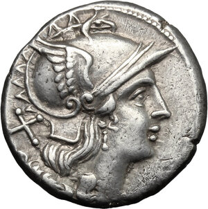 obverse: Anonymous issue.. AR Denarius, after 211 BC