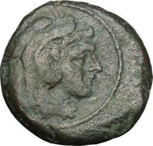obverse: Sextantal series.. AE Quadrans, 211 BC