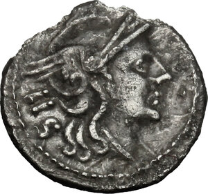 obverse: Anonymous. AR Sestertius, uncertain mint in Southeast Italy, 211-210 BC