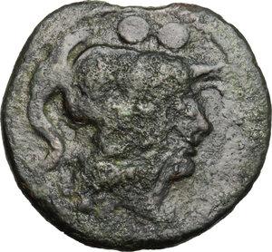 obverse: Northern Apulia, Venusia. AE Sextans, circa 210 BC