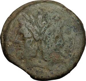 obverse: A. Caecilius.. AE As, c. 169-158 BC