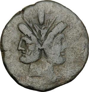 obverse: L. Cornelius Cinna.. AE As, 169-158 BC