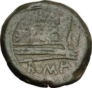 reverse: L. Cornelius Cinna.. AE As, 169-158 BC