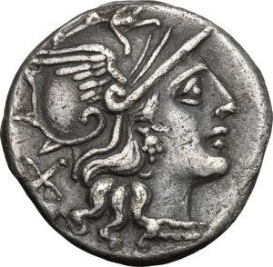 obverse: P. Cornelius Sulla.. AR Denarius, 151 BC