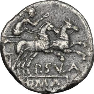 reverse: P. Cornelius Sulla.. AR Denarius, 151 BC
